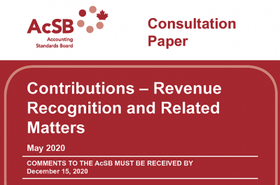 Consultation paper explores potential changes to Canadian Accounting Standards for Not-For-Profit Organizations